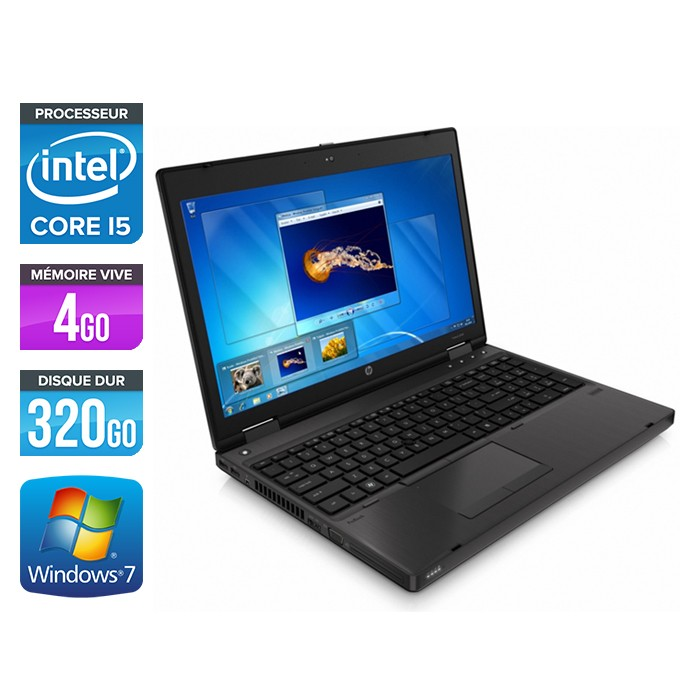 Pc portable hp 6460b core i5/4go/320go/w7 pro